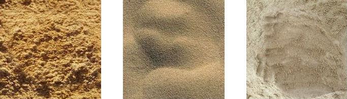 на фото виды песка