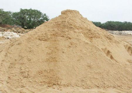 На фото речной песок